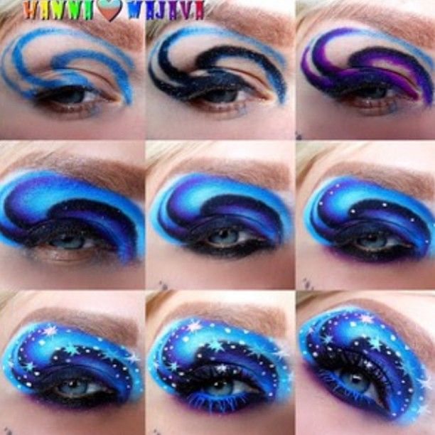 Step By Step Eye Makeup Pics My Collection Eye Makeup Pictures Galaxy Makeup Eye Makeup
