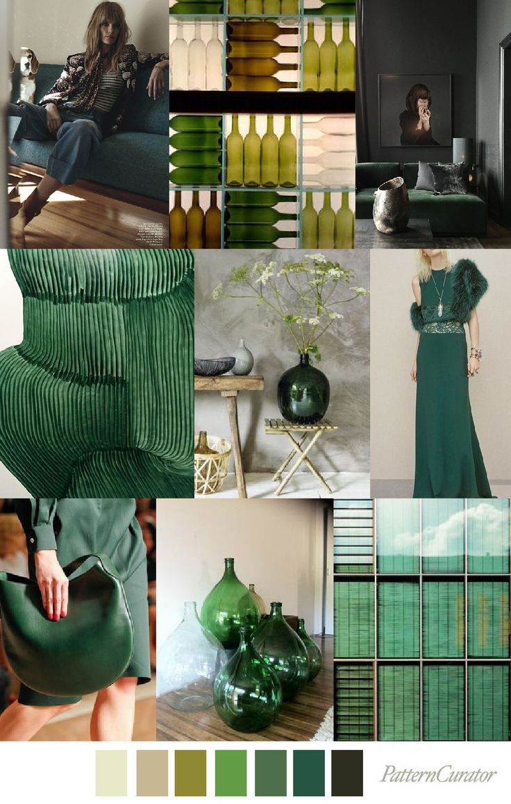 2019 wohndesign bottle green pattern curator  mood boards color pallets and