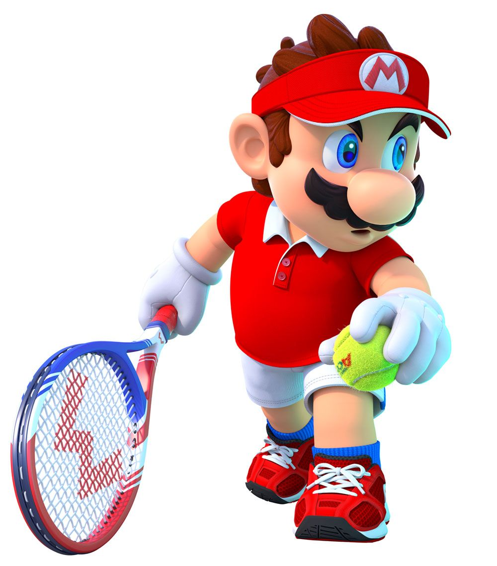 Mario Serve Shot From Mario Tennis Aces Illustration Artwork Gaming Videogames Characterdesign Mario Bros Mario And Luigi Mario