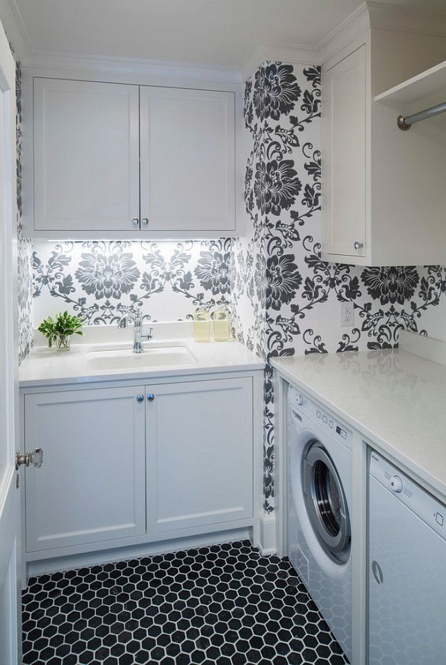 Small Laundry Room Layout With Countetop Countertop Is Caesarstone Organic White Quartz