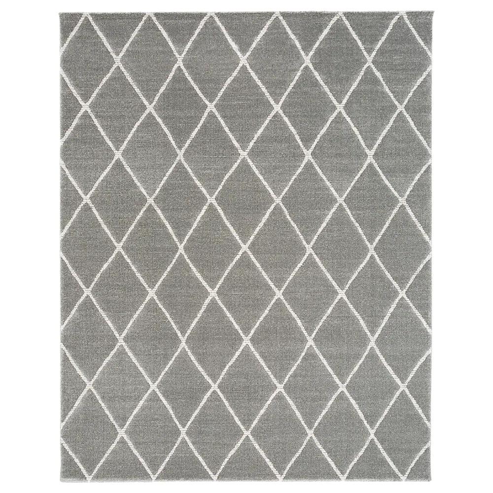 Vantore Rug Low Pile Gray White Diamond Pattern 7 10 X9 10 Ikea In 2020 Medium Rugs Rugs Rugs On Carpet