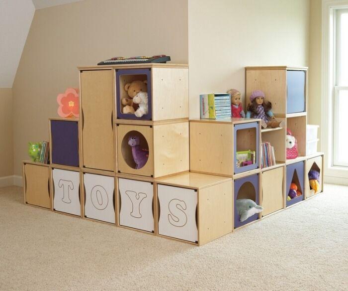 Meuble Rangement Enfant En Cubes En Bois Clair De Design Super Chic