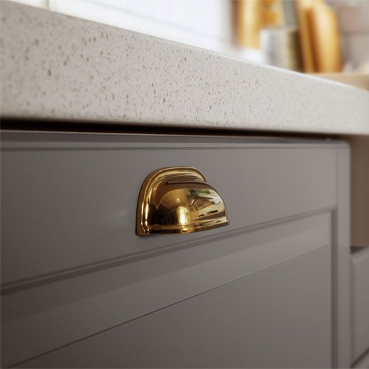 IKEA SEKTION Kitchen Handles ENERYDA In A Brass Effect