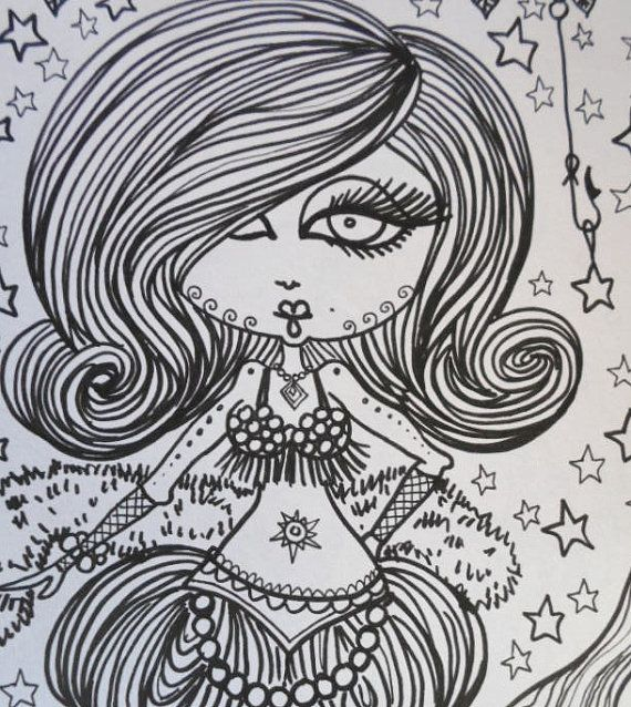 Burlesque Mermaids Coloring Book Unique fun art by ChubbyMermaid ...