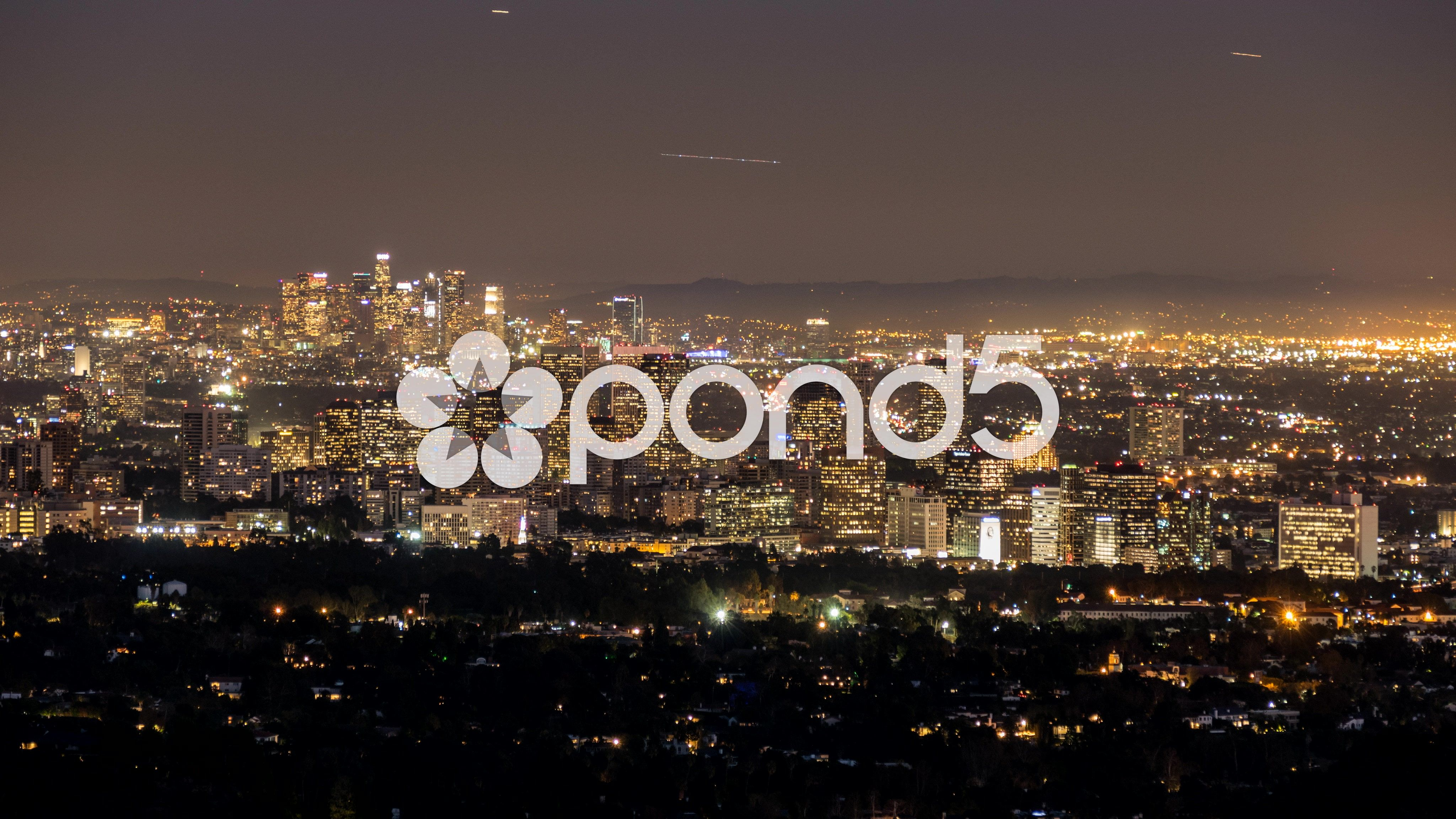 Century City And Downtown Los Angeles Day To Night Time Lapse Stock Footage Ad Los Angeles Century Downtown In 2020 Century City Downtown Los Angeles Night Time
