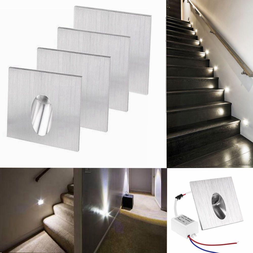 Captivating Details Zu 4x LED Wand Einbau Strahler Einbaustrahler Treppe Leuchte Spot  Aluminium Weiß