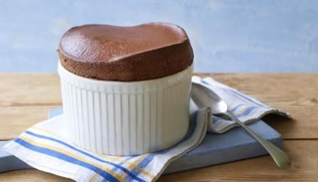 Mary Berry's Hot chocolate soufflé from the last episode of The Great British Bake Off technical challenge! The semi finals !!!!