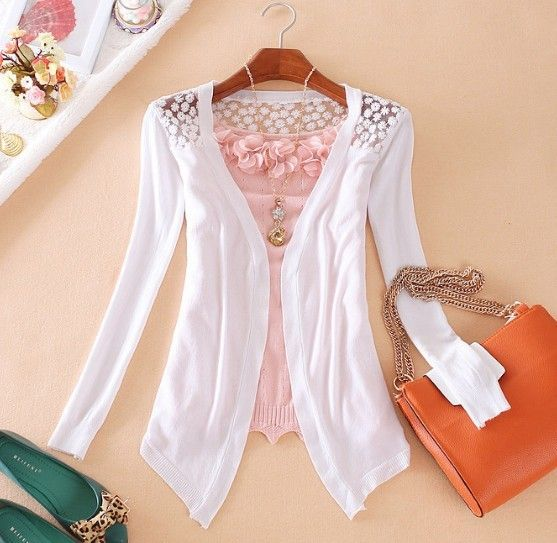 4,90 euro incl. shipping   [S 346] Elegant Womens Long Sleeve Cardigan Knit Coat Casual Soft Open Sweater Outwear-in Hoodies & Sweatshirts from Apparel & Accessories o...