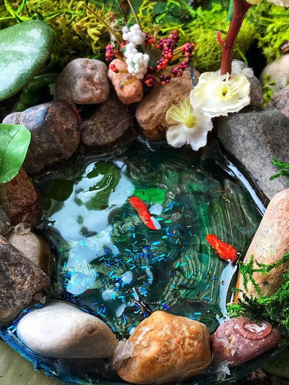 Beautiful Miniature Fairy Garden Pond For Your Woodland 400 x 300