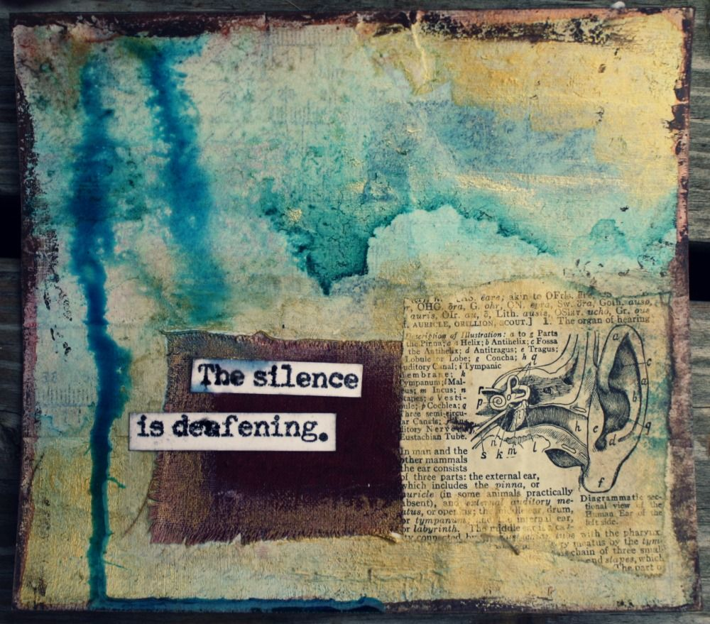 silence.jpg (1000×879). Art Journal PagesJournal ...