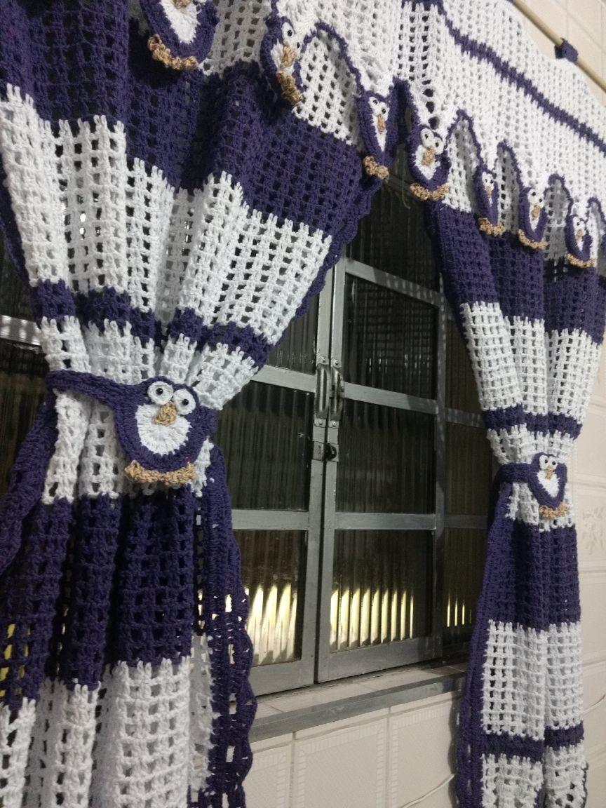 Cortina Coruja Pinterest Crochet Crochet House And Crochet