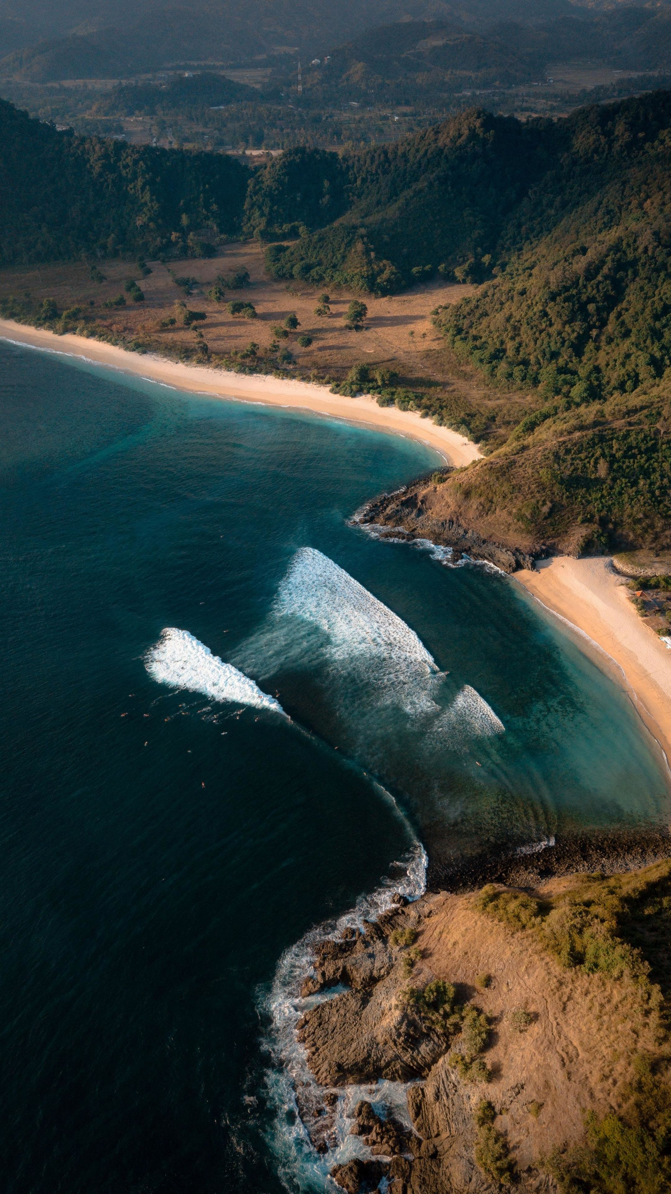 2160x3840 Aerial View Beach Sea Landscape Wallpaper In 2020 Beach Landscape Hd Landscape Landscape Wallpaper