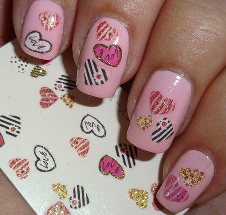 kkcenterhk heart water decals wendysdelights pink