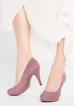 Tamaris. Trendy Tamaris Womens Closed Toe Heels Pink Mauve