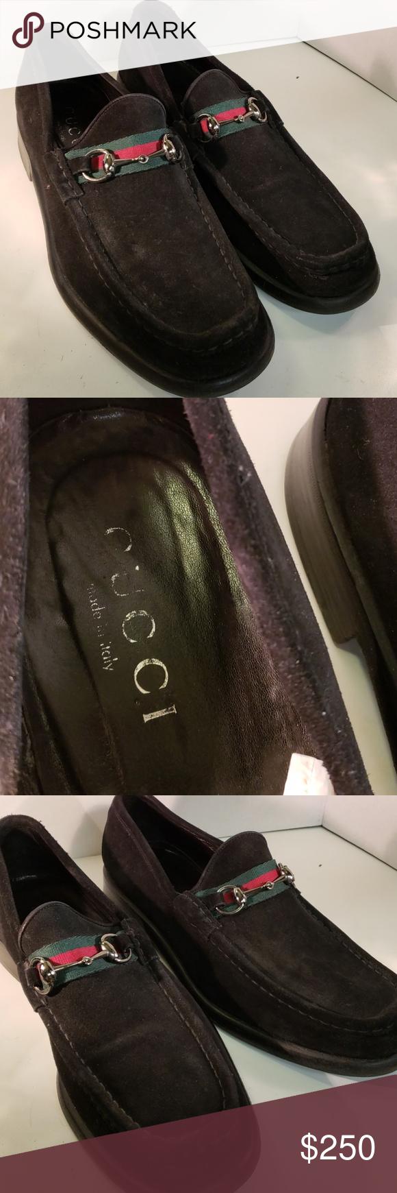 55bceb3f Vintage Men's Authentic Gucci Suede Loafers 12.5 Great Vintage Black ...