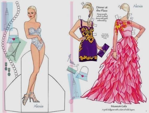 resultado de imagen para cucas para vestir de barbie paperinuket