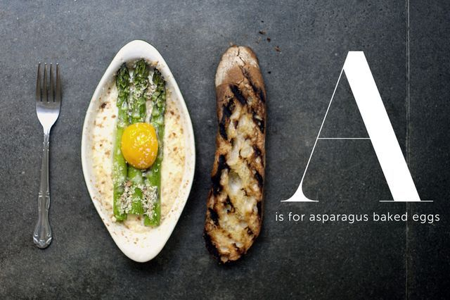 Asparagus baked eggs also, I love this girls blog!