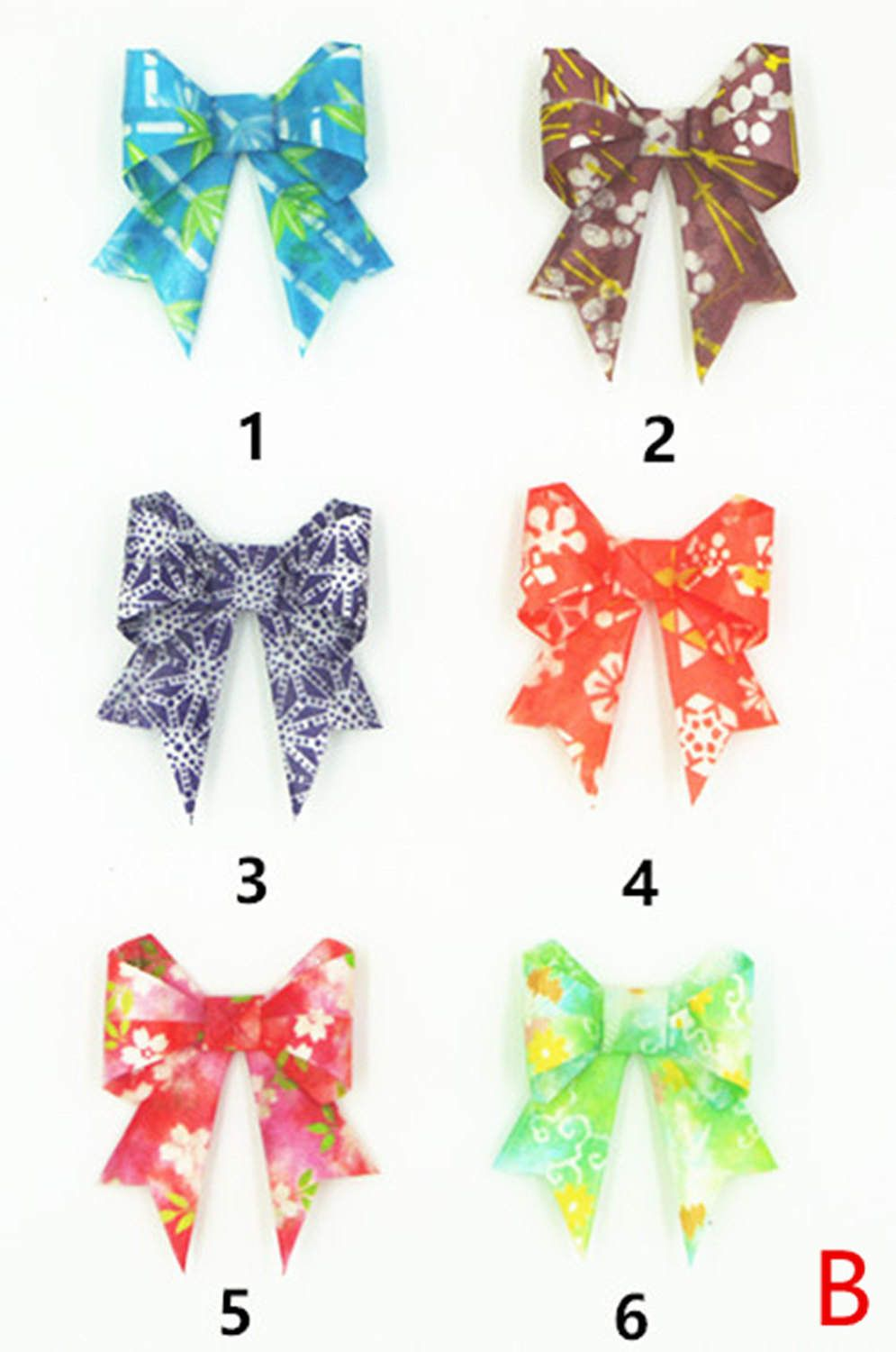 Water Resist Origami Jewelry Japanese Origami Bowknot by qiaojiang on Etsy