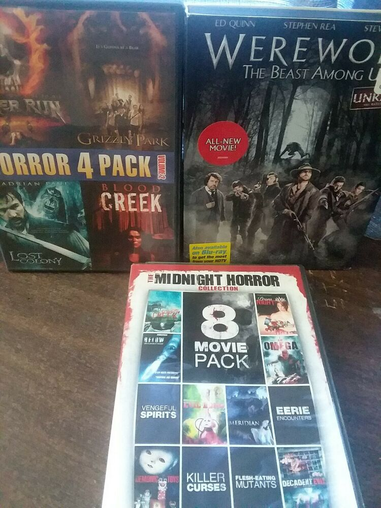 Horror Dvd Lot 8 Movie Pack The Midnight Collection Werewolf Horror 4 Pack V 2021 G