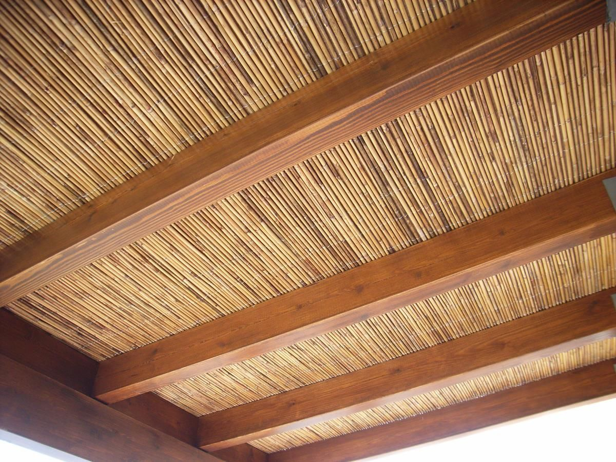 Coberti p rgola de madera con techo de bamb p rgola madera bamb coberti malaga techo - Como se planta el bambu ...