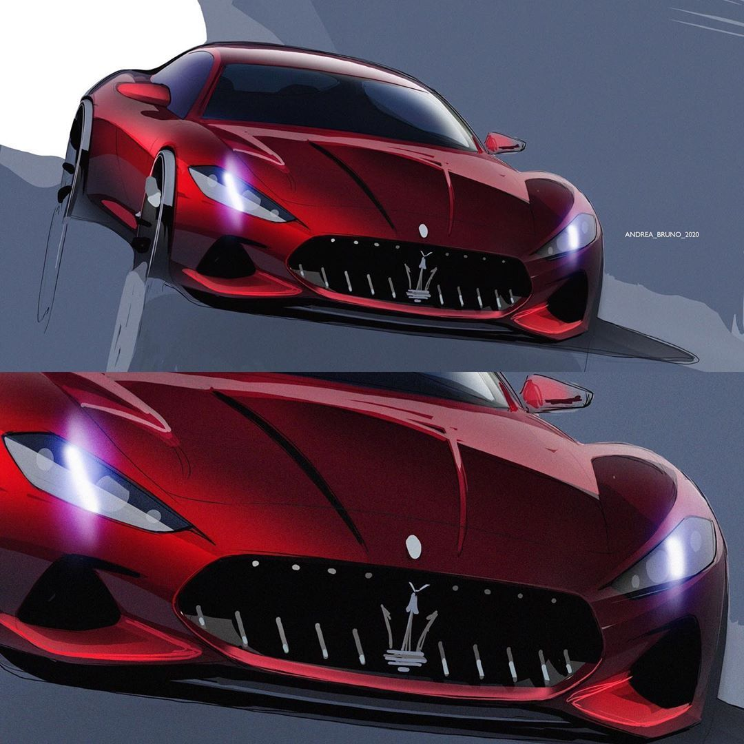 "andrea_bruno on Instagram: ""2018 Maserati Granturismo.. #sketch #freesketch #carsketch #carsketching #cardesignsketch #cardesigners #cardesignconcept #cardesignmedia…"""