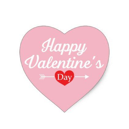 Happy Valentineu0027s Day Heart Heart Sticker $555 By   Sticker Valentine