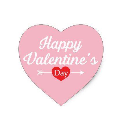 Happy Valentineu0027s Day Heart Heart Sticker $555 By   Sticker Valentine