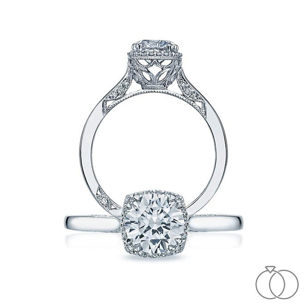 Tacori Platinum Diamond Engagement Ring Setting 1 10 Ct Tw Platinum Diamond Engagement Rings Diamond Engagement Ring Set Engagement Rings