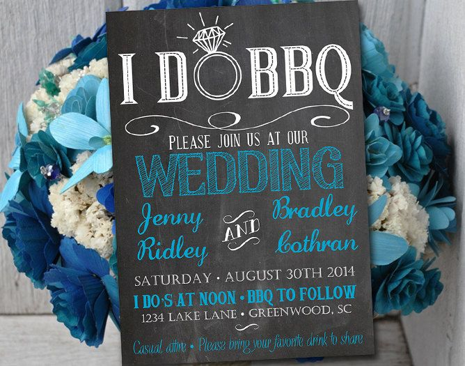 I DO BBQ Wedding Invitation Template Download - Chalkboard - chalk board invitation template
