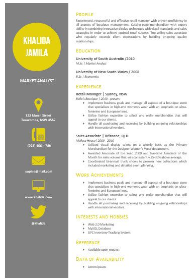Modern Microsoft Word Resume Template Khalida Jamila by Inkpower - photographer resume example