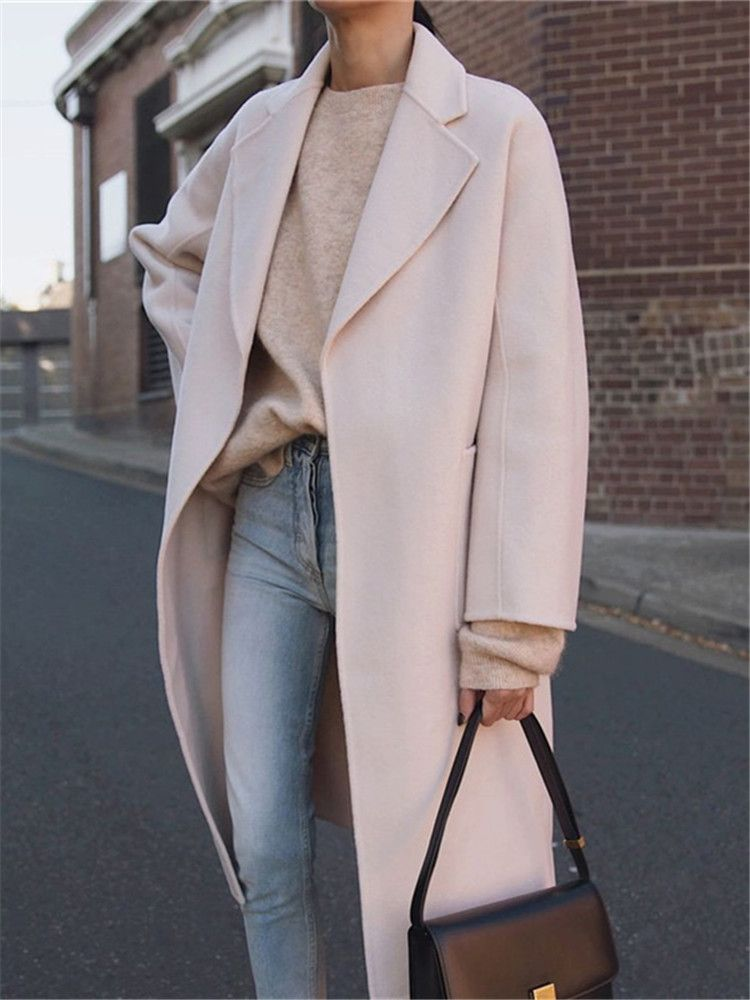 Fashion Large Lapel Long-Sleeved Solid Color Coats -   17 style Fashion inspiration ideas