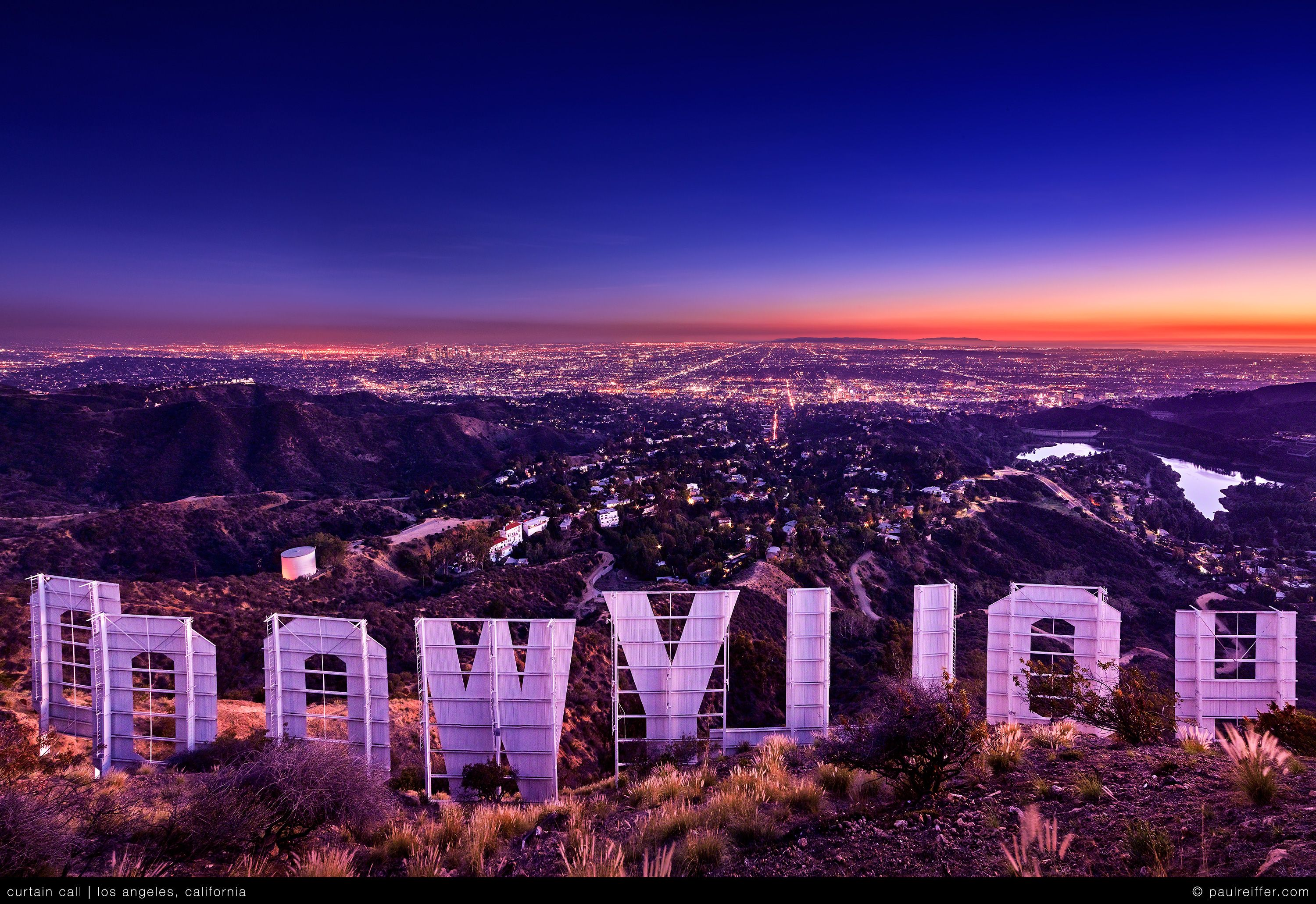 hollywood sign sunset pic by paulreiffer california. Black Bedroom Furniture Sets. Home Design Ideas