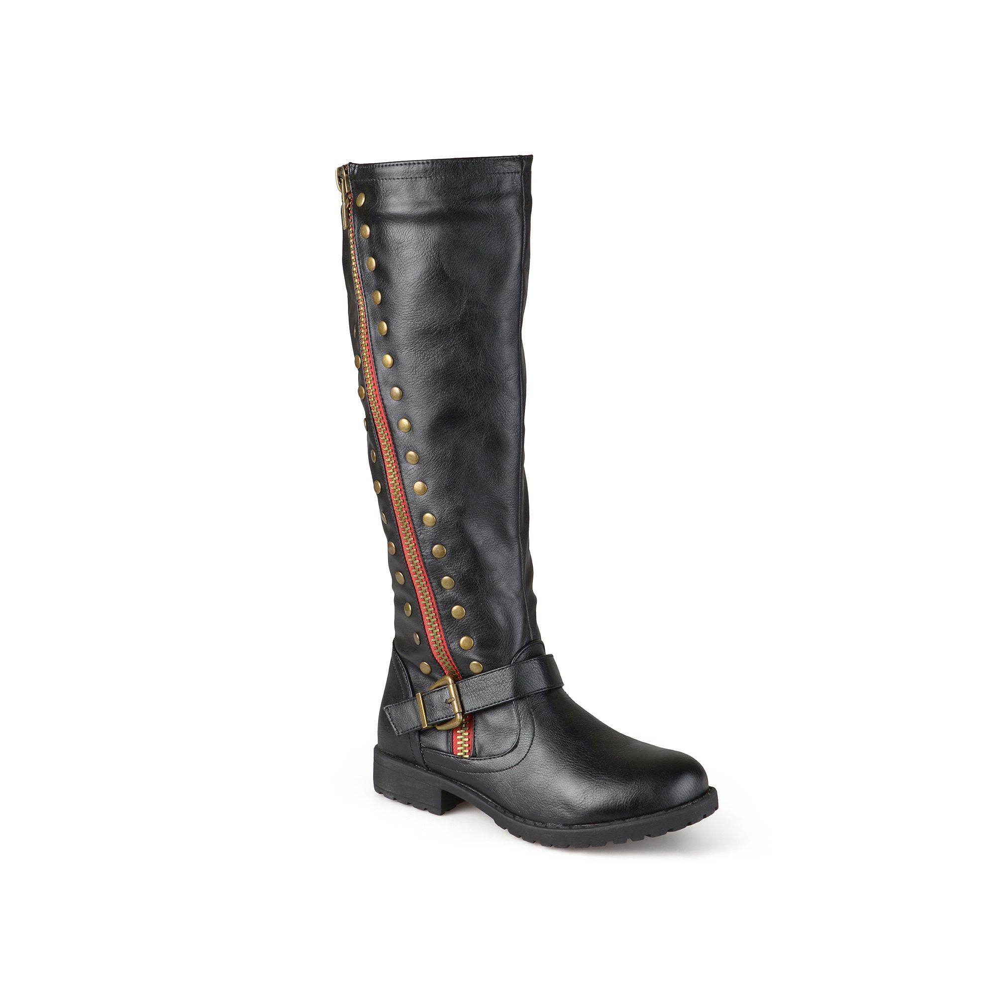 Journee Collection Women's ... Studded Knee-High Riding Boots 5t6aRP