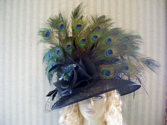 Sale Kentucky Derby Hat Preakness Hat Peacock Hat Belmont Hat Tea Hat Ascot Hat Victorian Hat Downton Abbey Hat Derby Hats Kentucky Derby Hat Kentucky Derby