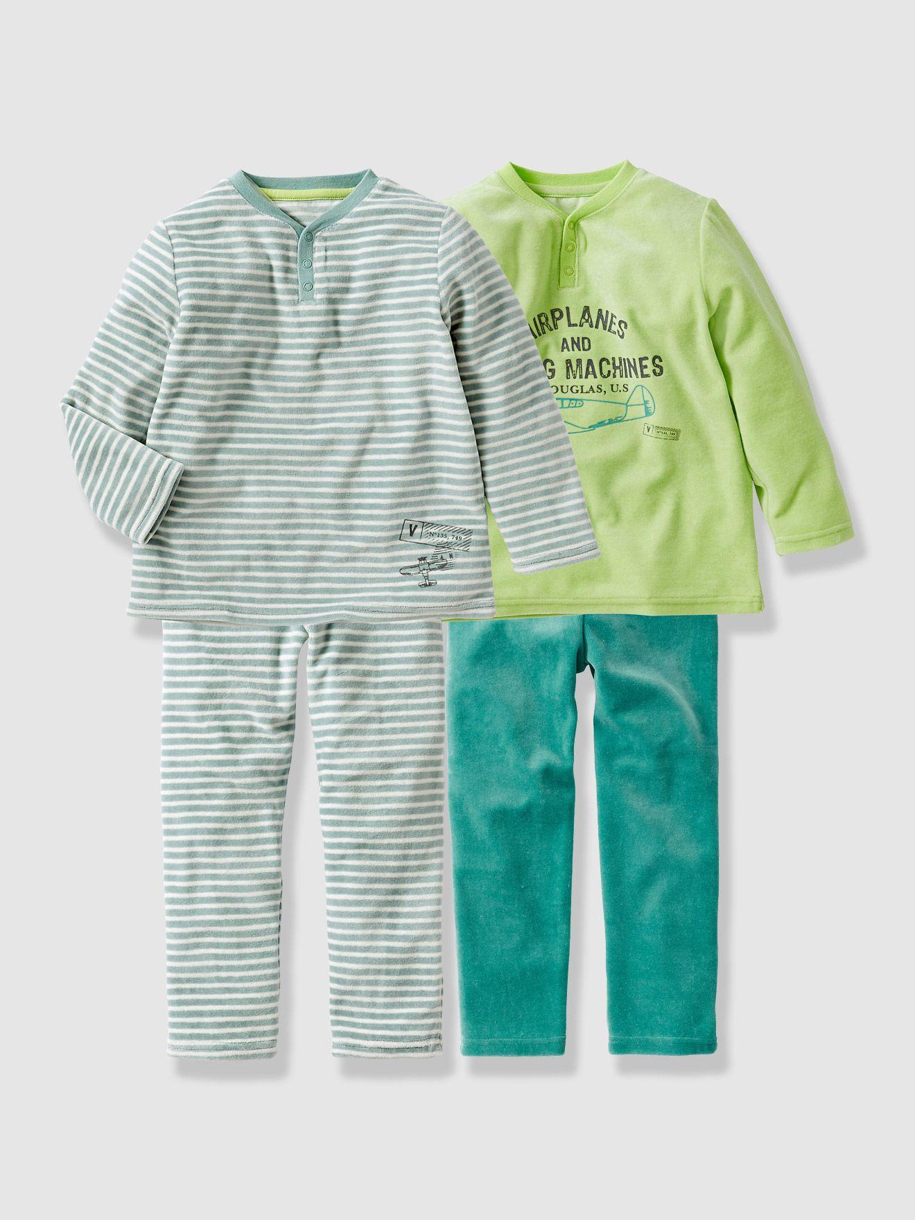 Pack of 2 Boy s Velour Mix   Match Pyjamas 5cd1fc7231803