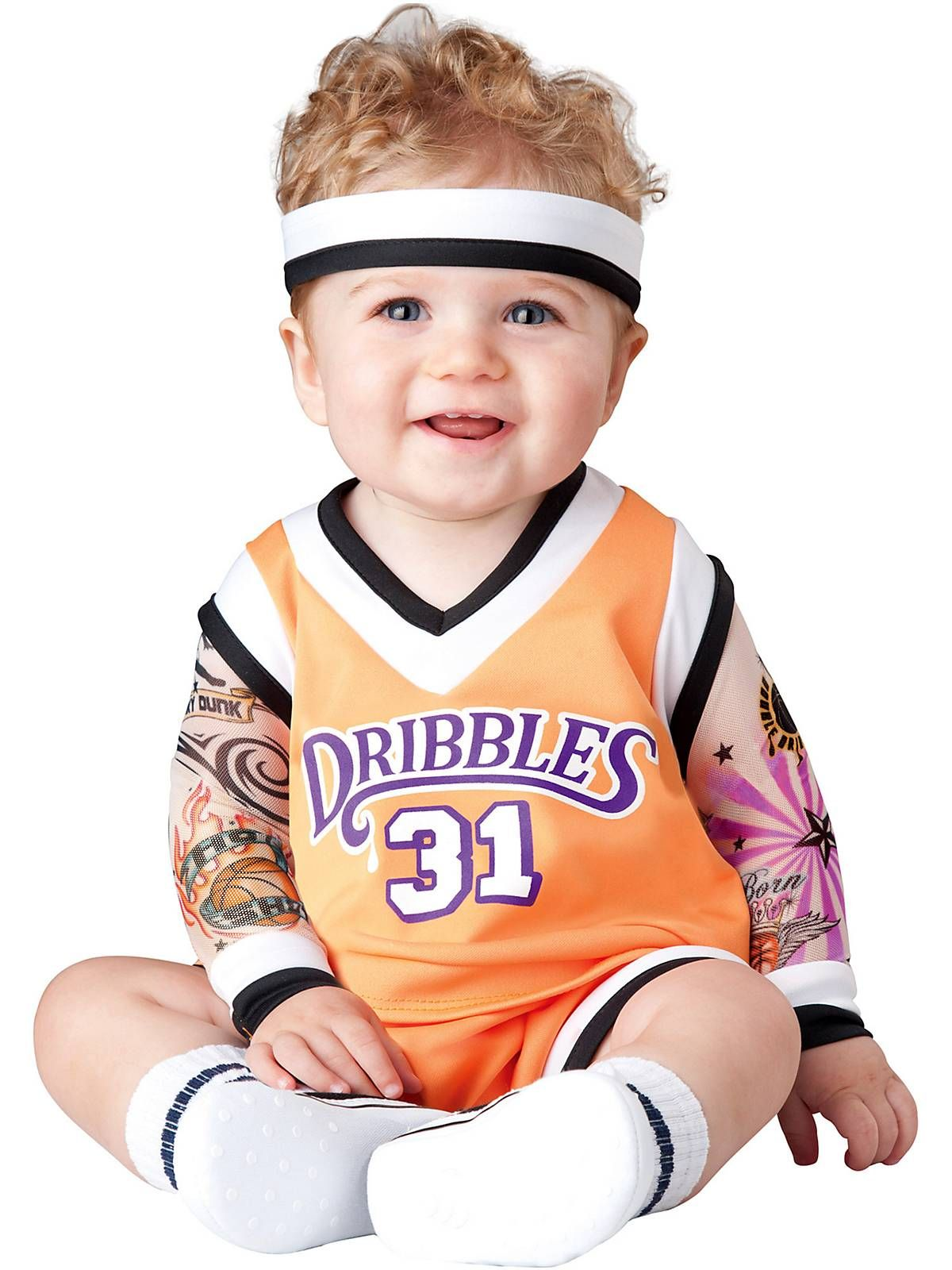 Double Dribble Basketball Player Costume Toddler | Costumes, Baby ...