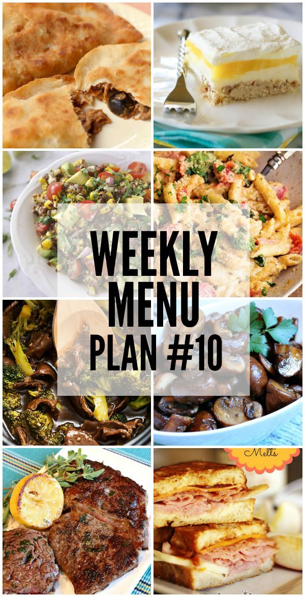 Weekly Menu Plan - your favorite bloggers who have teamed up to share their favorite recipes each week to help you with your Menu Plan.