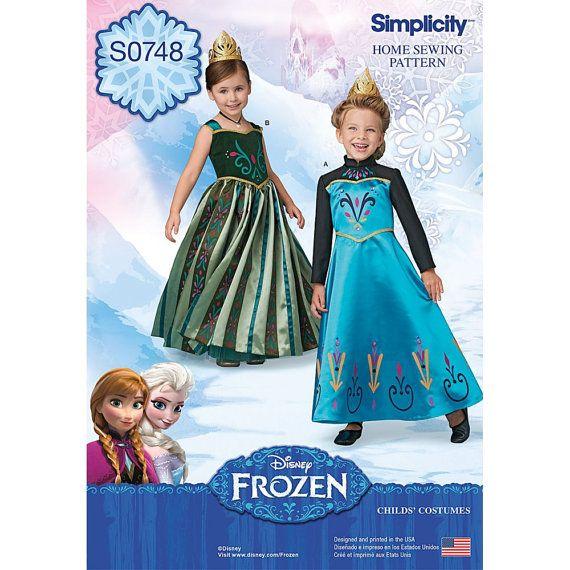 FROZEN SEWING PATTERN / Make Disney Princess Elsa and Anna ...
