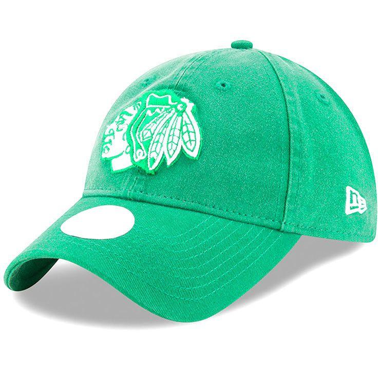 Chicago Blackhawks New Era Women's St. Patrick's Day Preferred Pick 9TWENTY Adjustable Hat - Kelly Green - $19.99