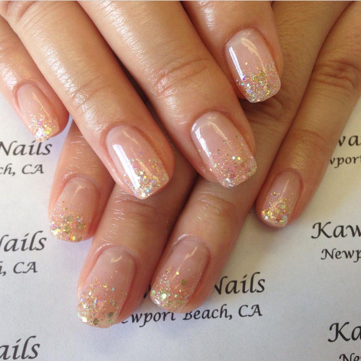 Glitter French Mani | Nail Art | Pinterest