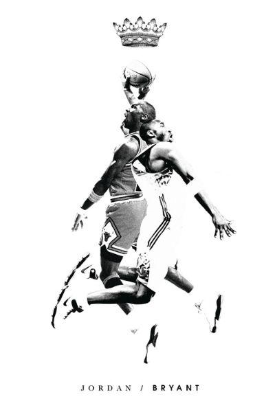 Michael Jordan X Kobe Bryant Mash Up Art Hooped Up Kobe Bryant Kobe Michael Jordan