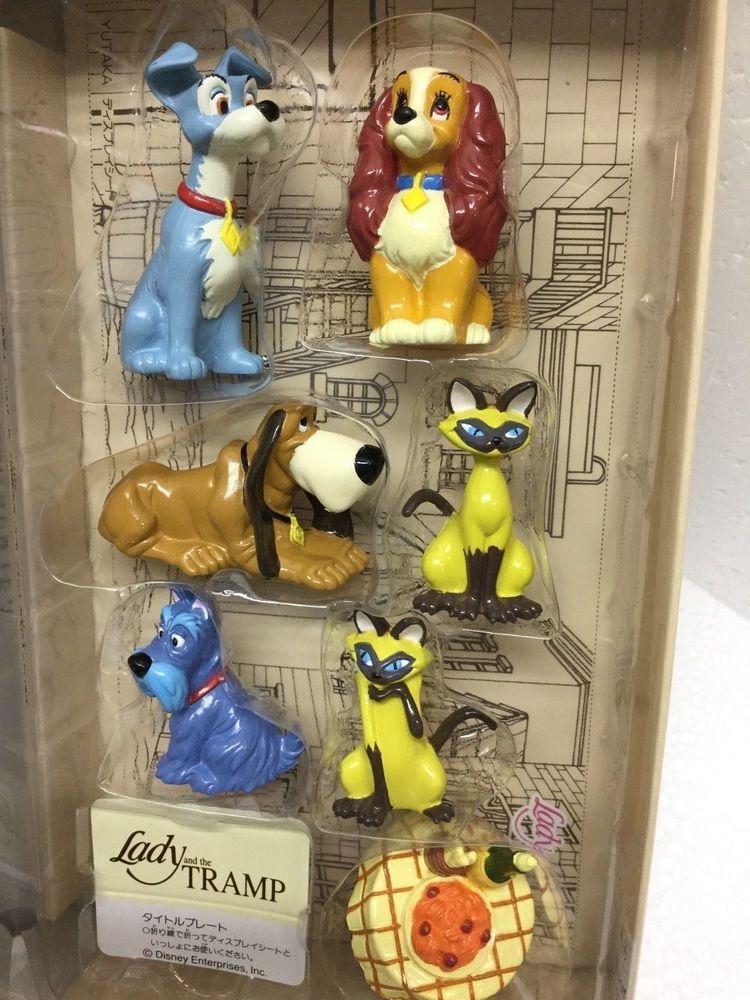 Walt Disney S Lady And The Tramp 7 Piece Mini Figure Pvc Set Disney Ladies Lady And The Tramp Pixar Toys