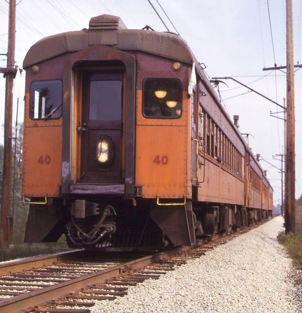 PHOTO CHICAGO TRAIN SOUTH SHORE LINE ALONG TRACKS