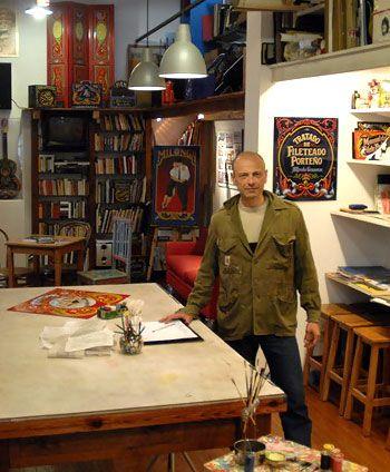 Alfredo genovese en el taller de fileteado porte o de for Casa silvia muebles y colchones olavarria buenos aires
