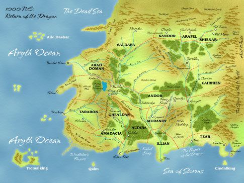 Map for The Wheel of Time series | Books | Pinterest | Time series ...