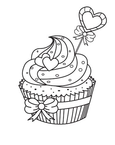 ausmalbilder cupcakes  ausmalbilder