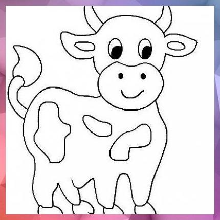 Bastelideen Info Kuh Malvorlage Oder Bastelvorlage