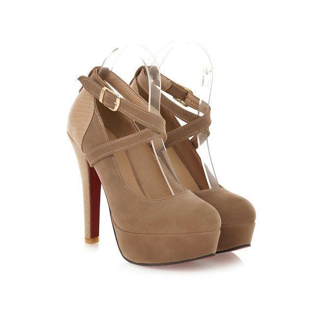 Latest design fashion sexy ladies platform pump high-heeled shoes size 34-42