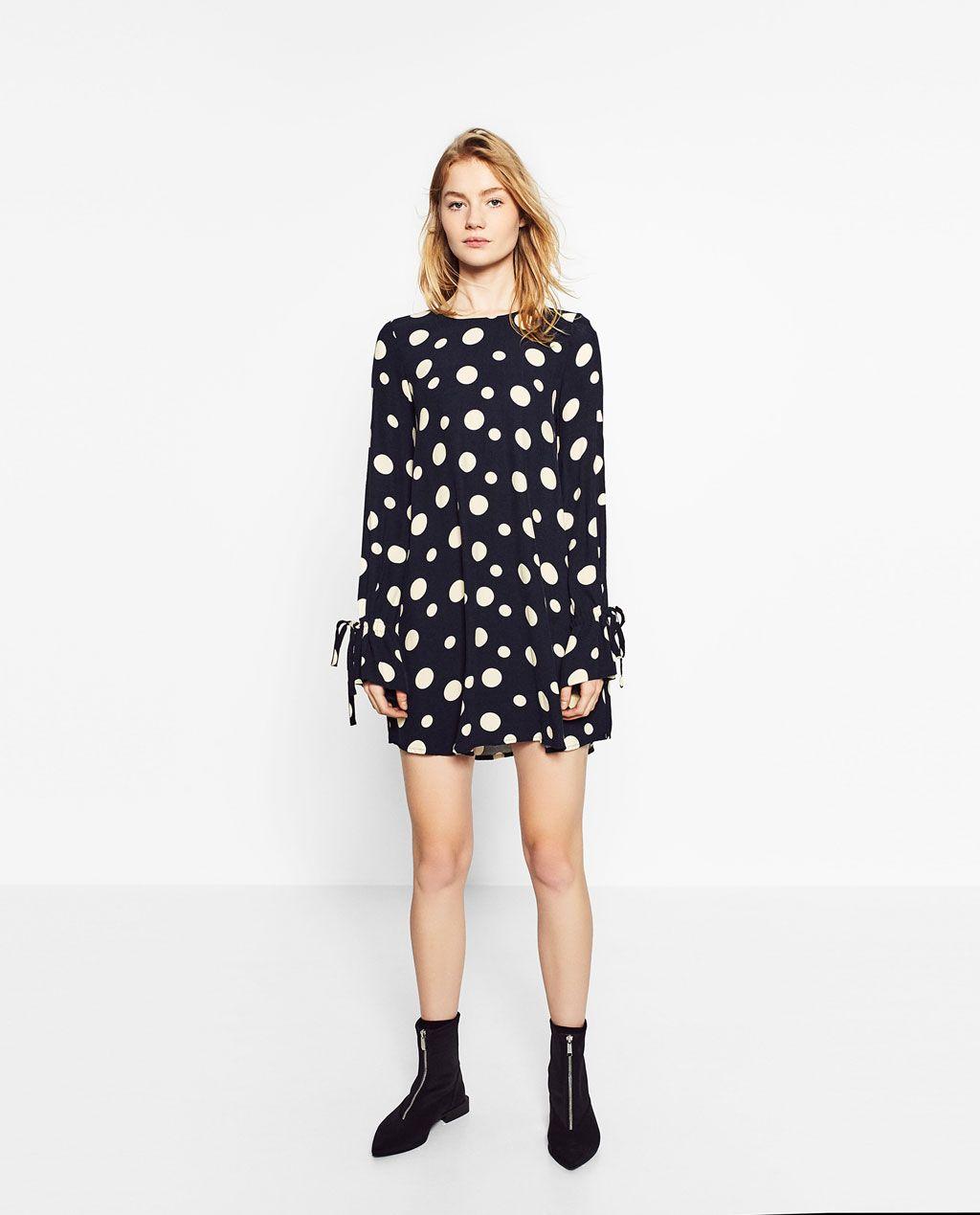 225214003 SHORT POLKA DOT DRESS-DRESSES-WOMAN