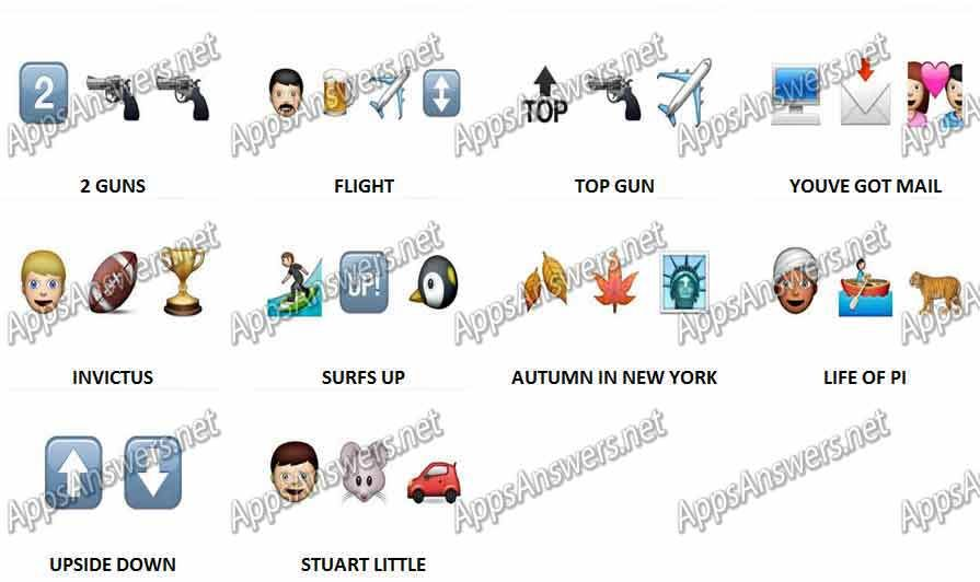 Guess The Emoji Movies Level 14 Answers Guess The Emoji Emoji Movie Guess The Movie